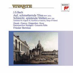 """Frieder Bernius: Bach: Cantatas """"Auf, schmetternde Töne"""", BWV 207a & """"Schleicht, spielende Wellen"""", BWV 206"""