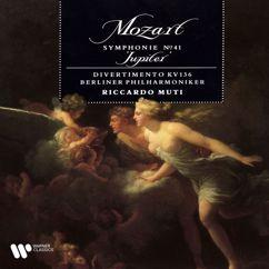 """Riccardo Muti: Mozart: Symphony No. 41, K. 551 """"Jupiter"""" & Divertimento, K. 136"""