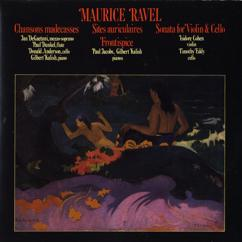Jan De Gaetani/Paul Dunkel/Donald Anderson/Gilbert Kalish/et al.: Maurice Ravel: Chansons Madecasses/Two Piano Pieces/Violin & Cello Sonata