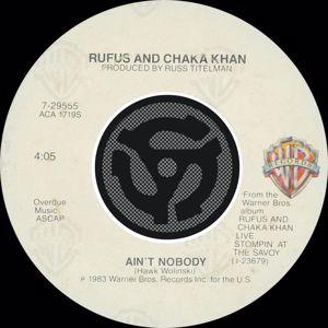 Rufus & Chaka Khan: Ain't Nobody / Sweet Thing (Live)