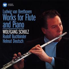 """Wolfgang Schulz, Rudolf Buchbinder: Beethoven: 10 National Airs with Variations for Flute and Piano, Op. 107: No. 2, Air écossais. Allegretto, quasi vivace """"Bonny laddie, highland laddie"""""""