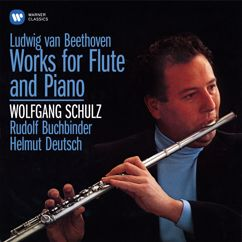 """Wolfgang Schulz, Rudolf Buchbinder: Beethoven: 6 National Airs with Variations for Flute and Piano, Op. 105: No. 3, Air autrichien. Andantino """"A Schlüsserl und a Reindl"""""""